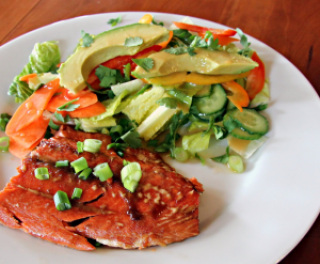 salmon with ginger soy