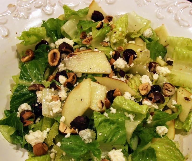 apple hazelnut blue cheese salad