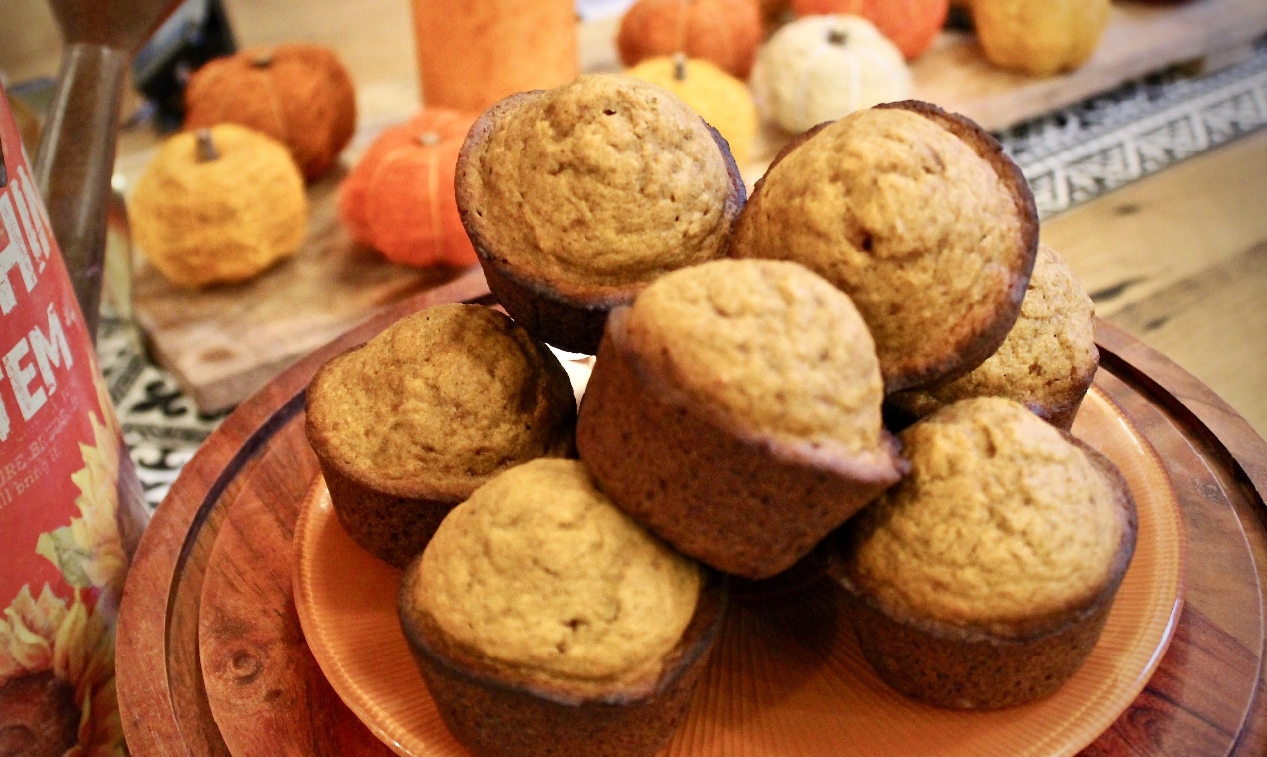 low sugar pumpkin muffin