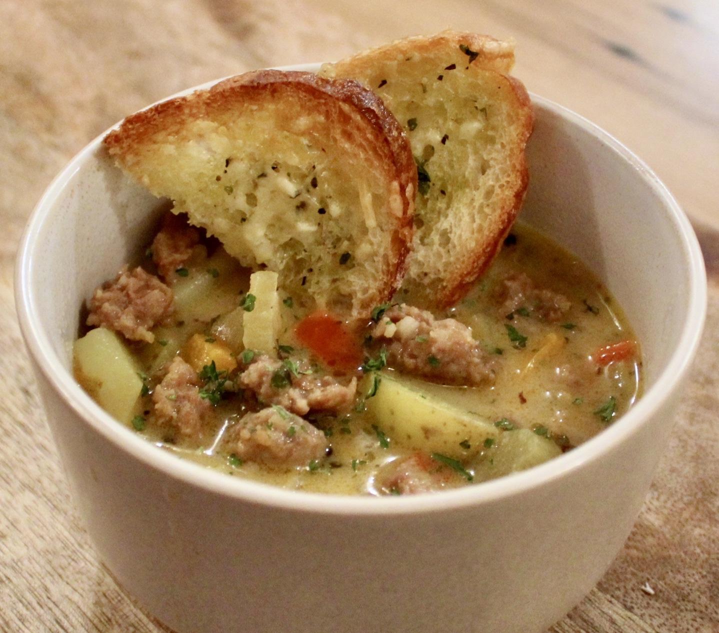 sausage and potato soup